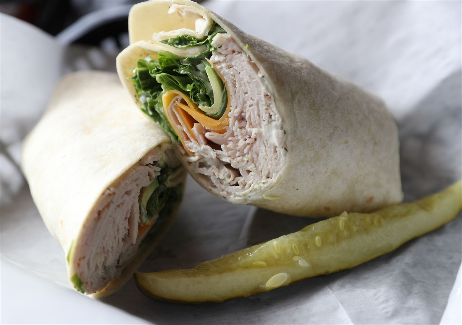 The Youngs is a turkey wrap with avocado.