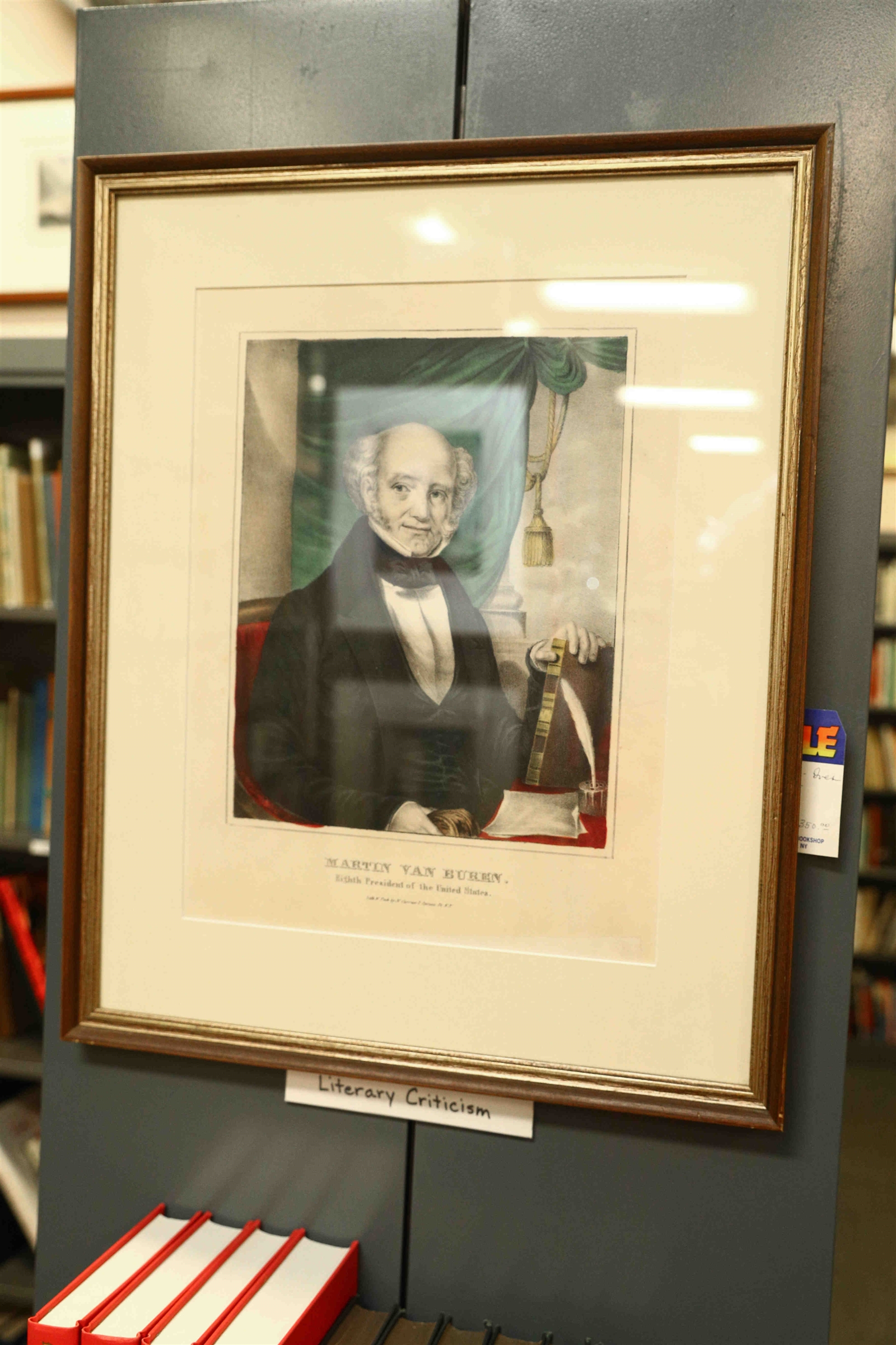 A Currier and Ives of Martin Van Buren at the Old Editions Book Shop.