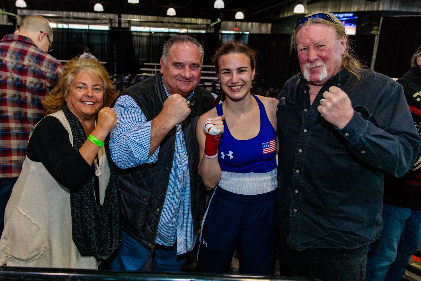 Smiles at Buffalo Golden Gloves Semifinals