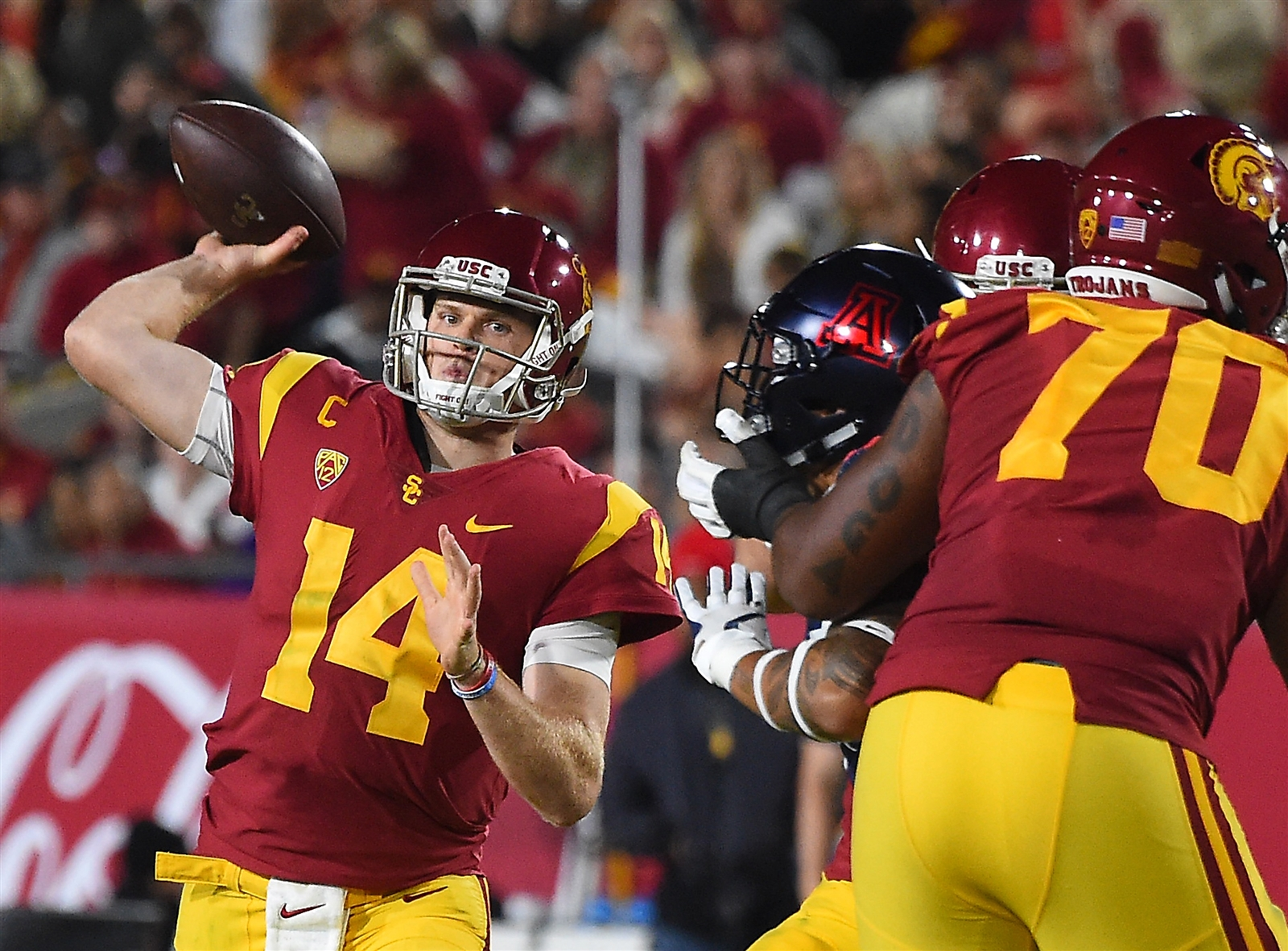 1. Cleveland Browns. Sam Darnold, QB, Southern California. When the owner of the team sits with your parents at your pro day, it's a pretty good sign of interest. That's what Jimmy Haslam did recently.