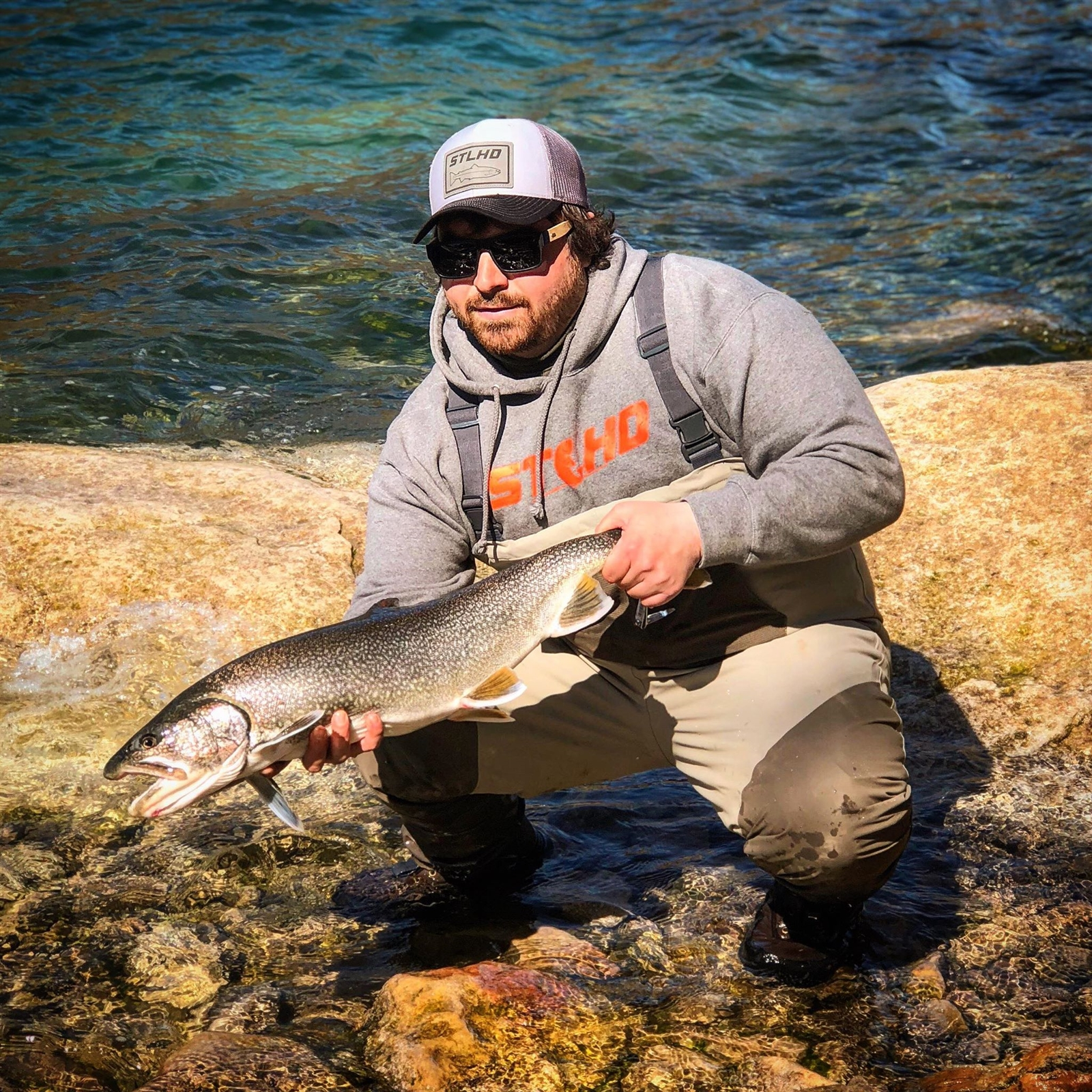 Capt. Nick Calandrelli of Lewiston caught this lower river lake trout on a jig over the weekend.