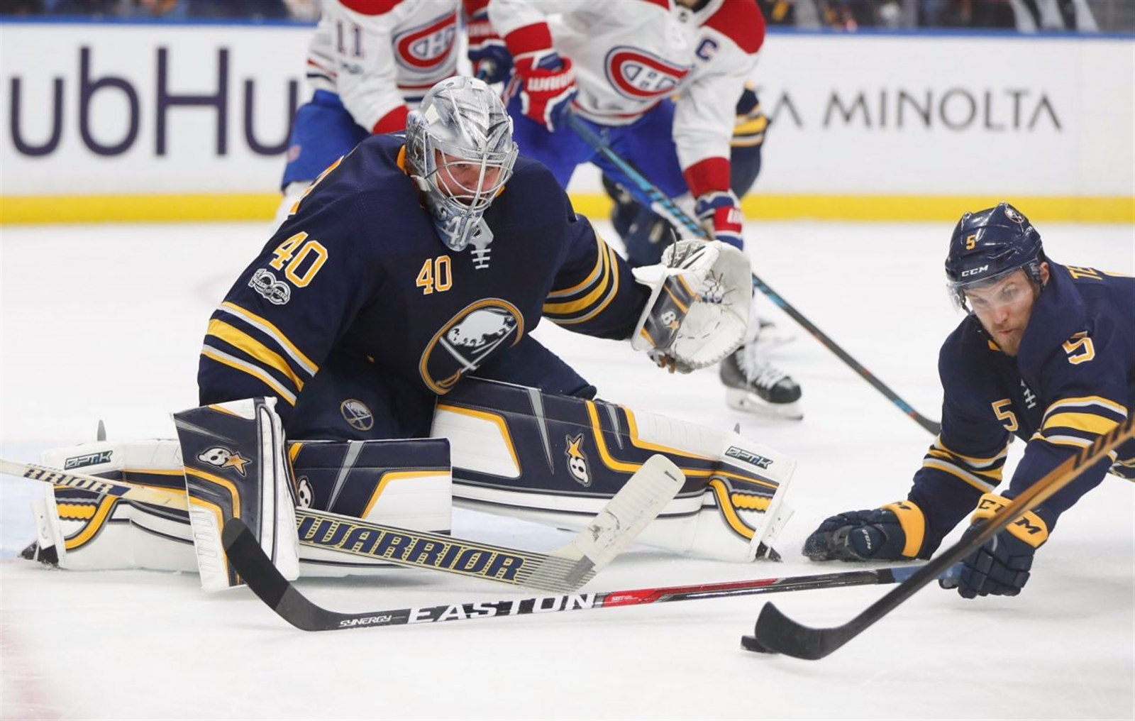 Oct. 5: The season opens with a 3-2 shootout loss to Montreal but Sabres play entertaining style with 45 shots on goal u2013 a total they never reached again.