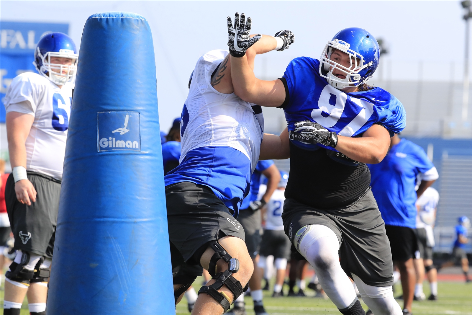 UB's Jake Fuzak during practice.