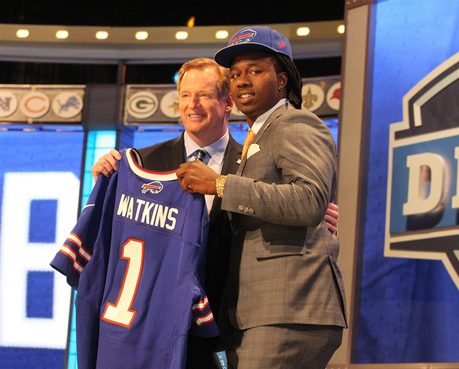 Sammy Watkins goes fourth overall in the draft and gets a photo op with Commissioner Roger Goodell.