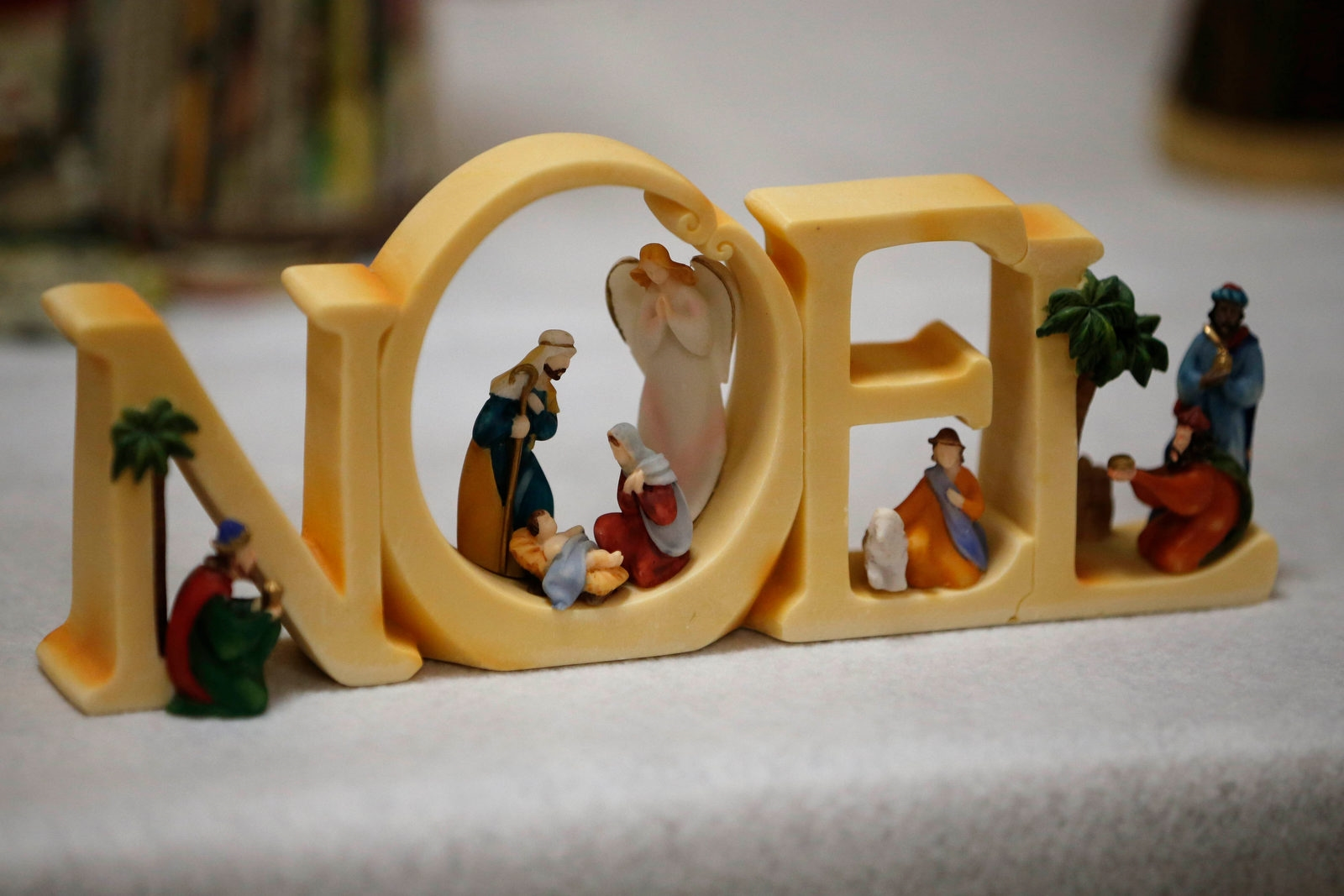 A nativity scene from the collection of Fr. Roy Herberger.