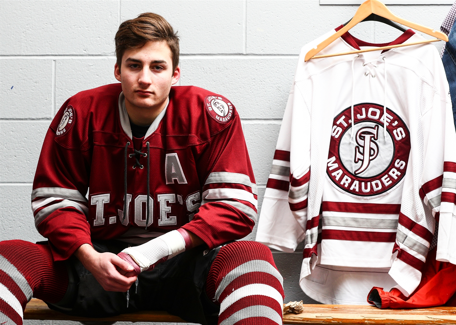 St. Joe's senior Shane Scheeler is holding out hope that he can play this season after suffering tendon and artery injury.