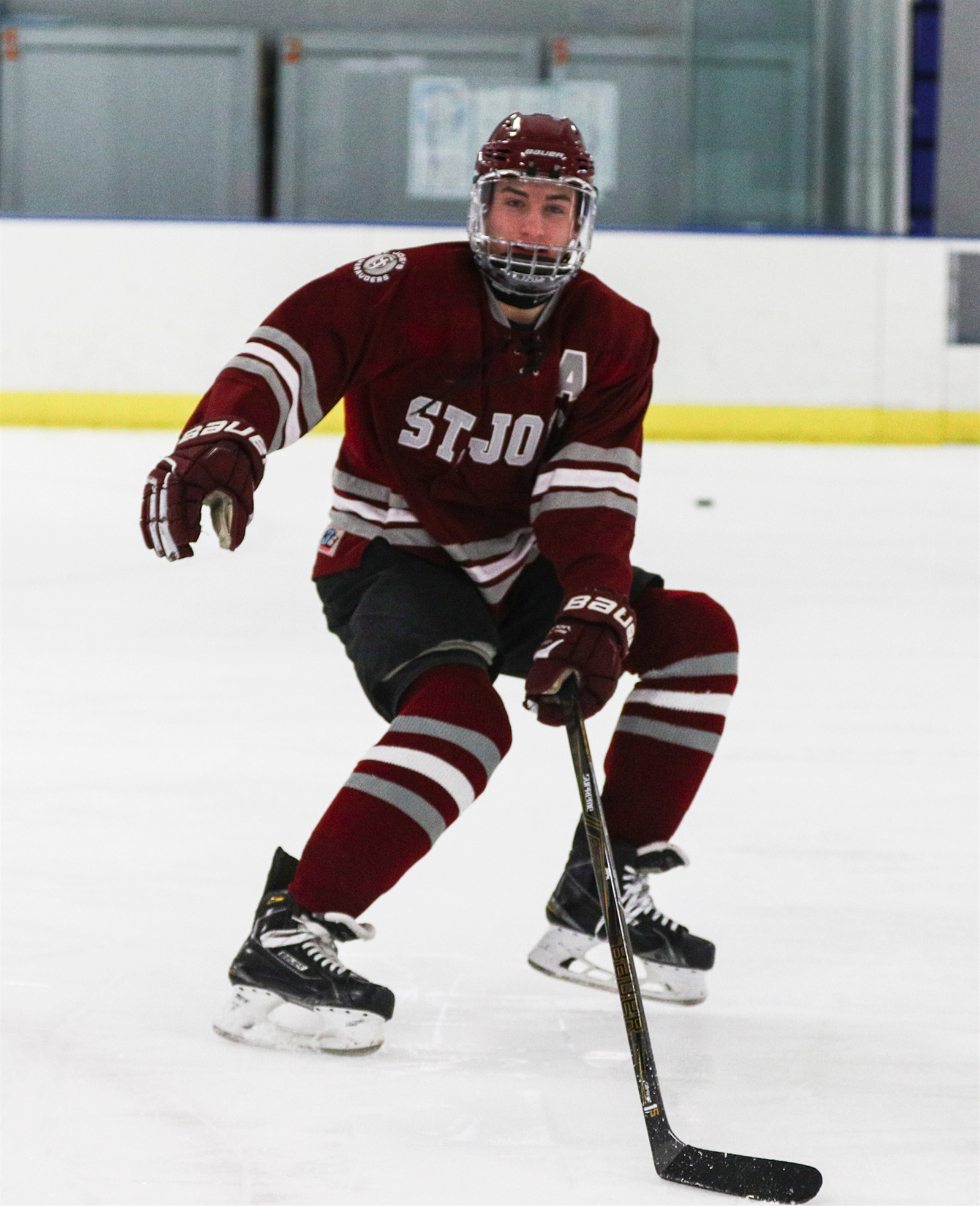 St. Joe's player Shane Scheeler has returned to the ice recently in limited drills.